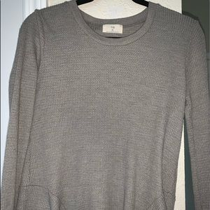 Long sleeve waffle knit